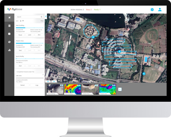 Drone Security Solution Dashboard