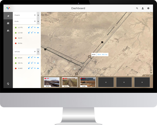 Remote Inspection with drones dashboard