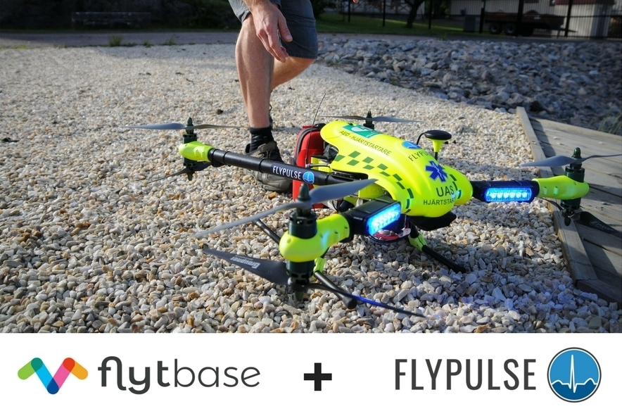 FlyPulse Partners with FlytBase to Power its Network of Lifedrone AED